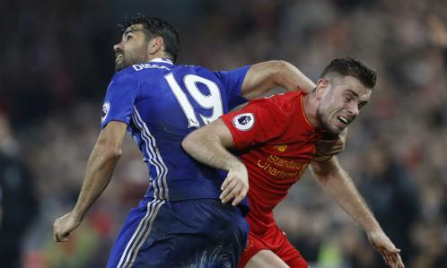 Diego Costa đá hỏng phạt đền, Chelsea bị Liverpool cầm chân