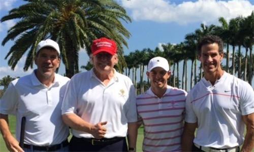 Rory McIlroy chơi golf với Tổng thống Donald Trump