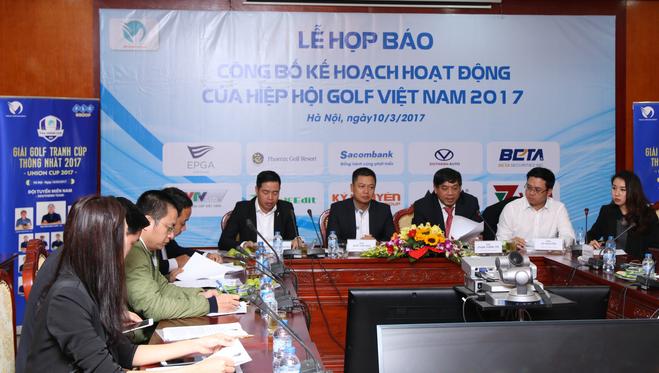 Công bố kế hoạch hoạt động năm 2017 của Hiệp hội golf Việt Nam