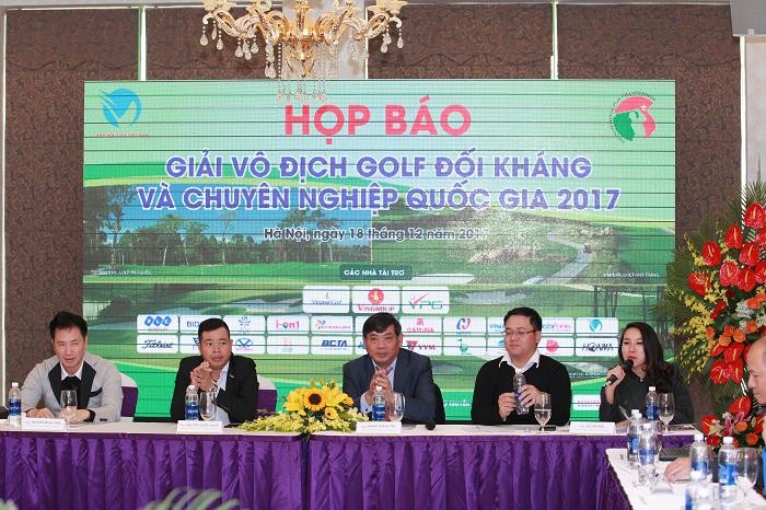 Công bố Giải Vô địch Golf Đối kháng và Chuyên Nghiệp Quốc Gia 2017