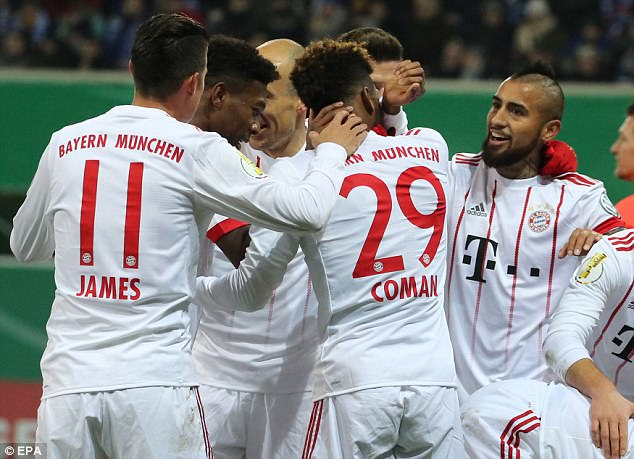 Hủy diệt đội hạng 3, Bayern Munich tiến vào bán kết DFB Cup