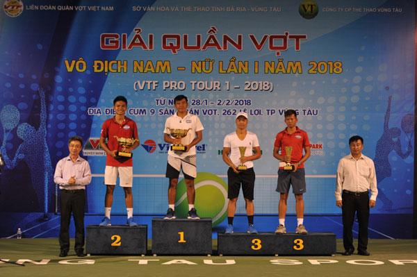 Hoàng Nam lên ngôi tại giải quần vợt Pro Tour I năm 2018