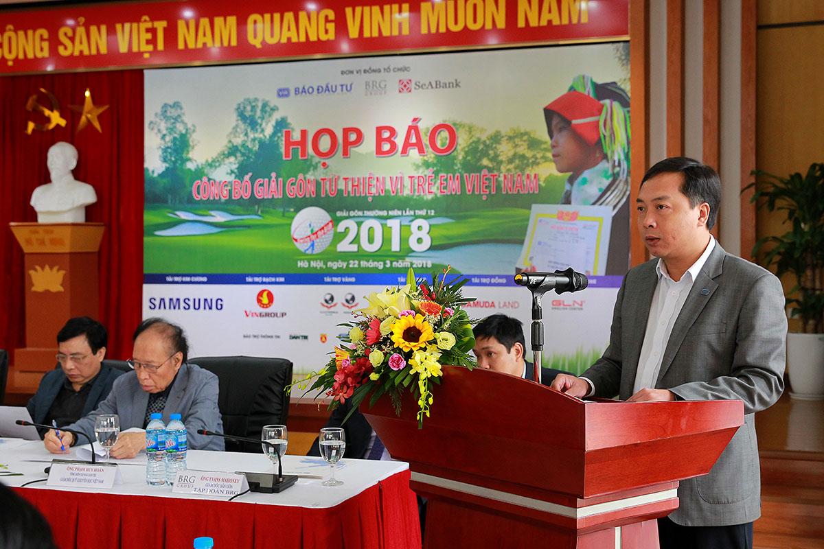 Công bố giải golf Vì trẻ em Việt Nam năm 2018