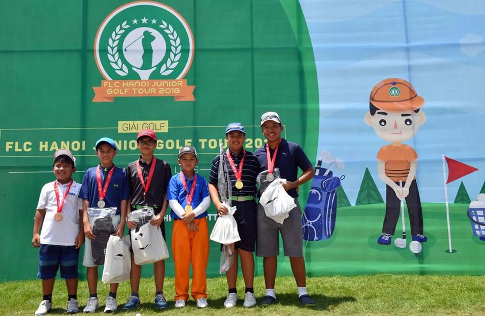 Đặng Minh và Anh Minh dẫn đầu tại vòng đầu tiên của FLC Hanoi Junior Golf Tour 2018