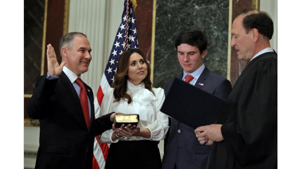 Donald Trump's pick to head environment agency sworn in
