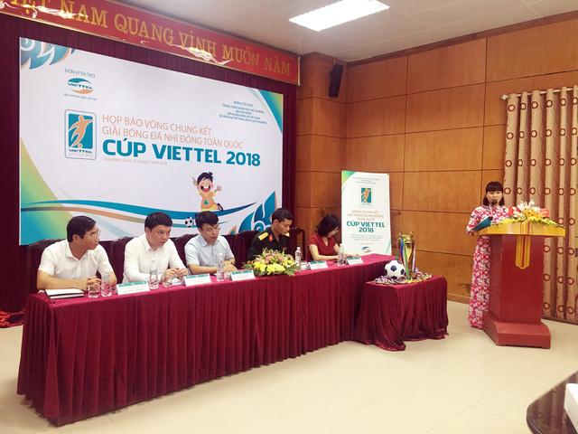 Sôi động vòng chung kết Giải bóng đá Nhi đồng toàn quốc Cúp Viettel 2018