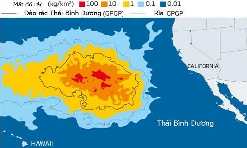 Đảo rác nổi lớn gấp ba lần nước Pháp giữa Thái Bình Dương