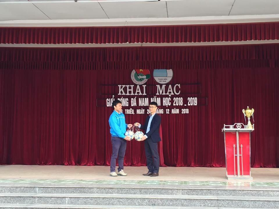 Korean Hạ Long đồng hành cùng giải bóng đá nam trường THPT Lê Chân