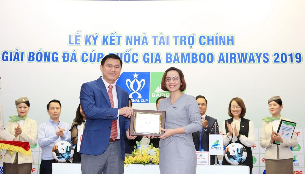Bamboo Airways trở thành là Nhà tài trợ chính giải bóng đá Cúp Quốc gia 2019