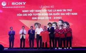 Sony tiếp tục sát cánh cùng các Đội tuyển bóng đá Quốc gia Việt Nam