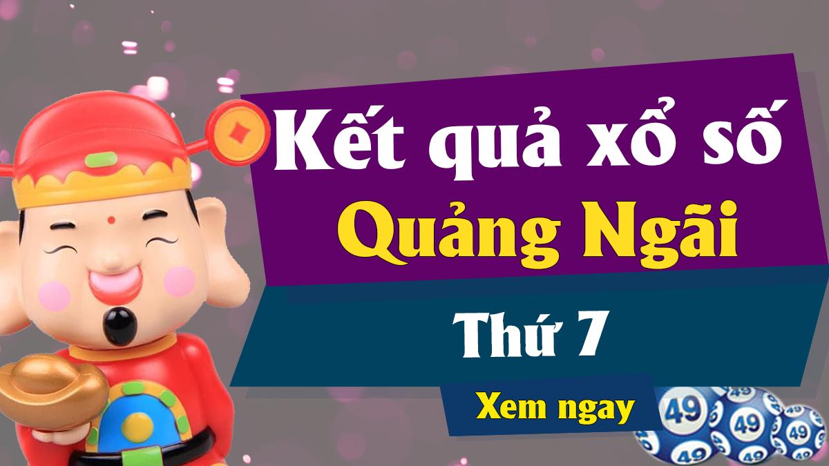 XSQNG 27/4 – KQXSQNG 27/4 - Xổ số Quảng Ngãi ngày 27 tháng 4 năm 2019