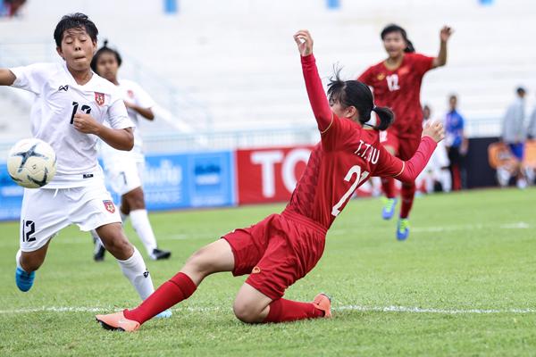 Việt Nam giành vé vào bán kết giải U15 nữ Đông Nam Á 2019