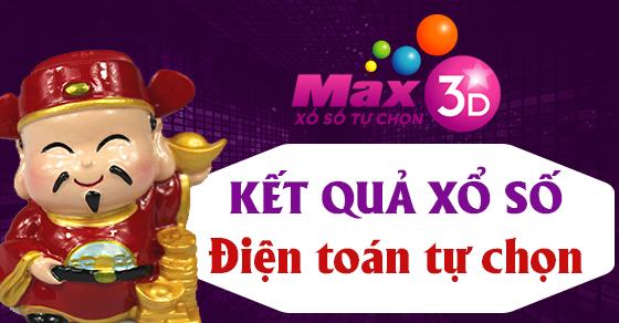 VIETLOTT MAX 3D 3/6 - MAX 3D thứ 2 - Kết quả xổ số MAX 3D ngày 3/6/2019