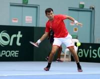 ĐT quần vợt Việt Nam tiếp tục đánh bại Singapore ở Davis Cup
