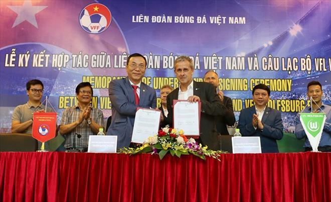 VFF ký thỏa thuận hợp tác với CLB VfL Wolfsburg