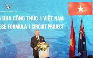 Thủ tướng Australia thăm đường đua F1 Việt Nam