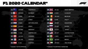 Formula 1 chính thức công bố lịch đua 2020 - Việt Nam là chặng đua mới nhất