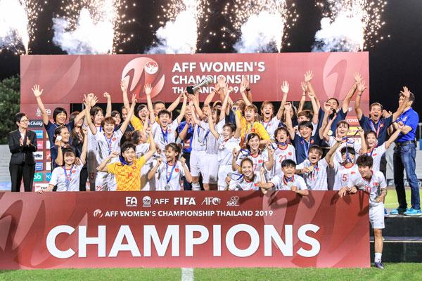 Thắng Thái Lan 1-0, Việt Nam vô địch giải bóng đá nữ Đông Nam Á 2019