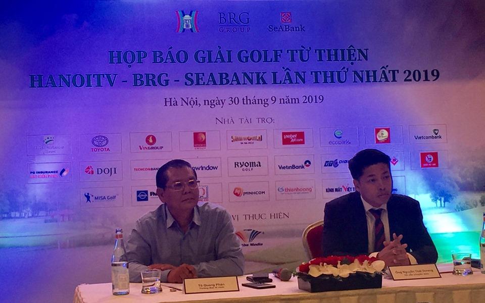 """Chuẩn bị diễn ra giải Golf từ thiện """"HANOITV – BRG – SEABANK lần thứ nhất năm 2019"""""""
