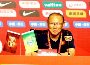 Thắng U22 Trung Quốc 2-0, HLV Park Hang-seo hài lòng về sự thể hiện của các học trò