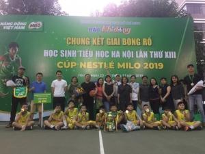 Trường Ba Đình và Ngôi Sao lên ngôi tại giải Bóng rổ học sinh Tiểu học Hà Nội 2019