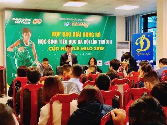 142 đội dự Giải Bóng rổ học sinh tiểu học Hà Nội lần thứ XIII cúp Nestlé Milo 2019
