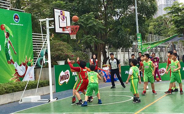 Khai mạc vòng chung kết giải Bóng rổ học sinh Tiểu học Hà Nội 2019