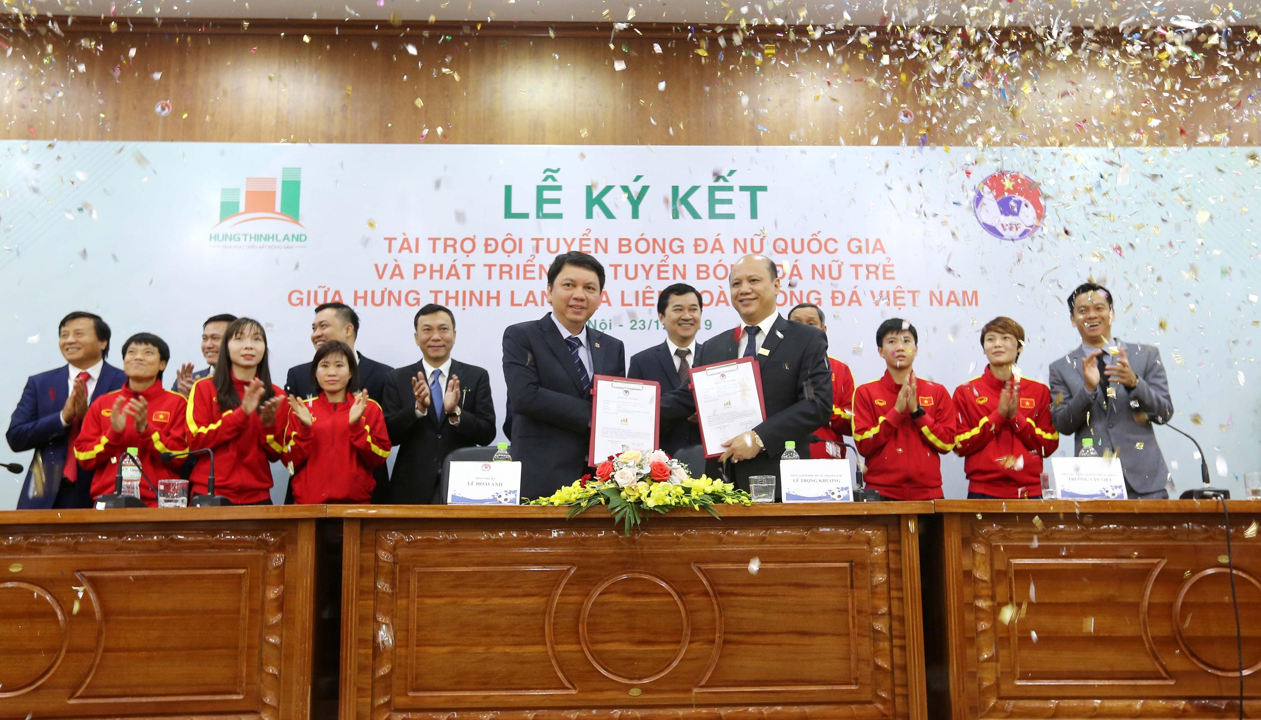 Hưng Thịnh Land tài trợ  ĐT Bóng đá nữ QG và phát triển ĐT nữ trẻ hướng đến World Cup