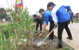 Ban Quản lý di tích  Côn Sơn - Kiếp Bạc với phong trào tuổi trẻ  tích cực trồng cây
