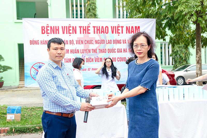 Bệnh viện Thể thao Việt Nam đồng hành cùng Trung tâm HLTTQG Hà Nội trong phòng chống dịch Covid-19