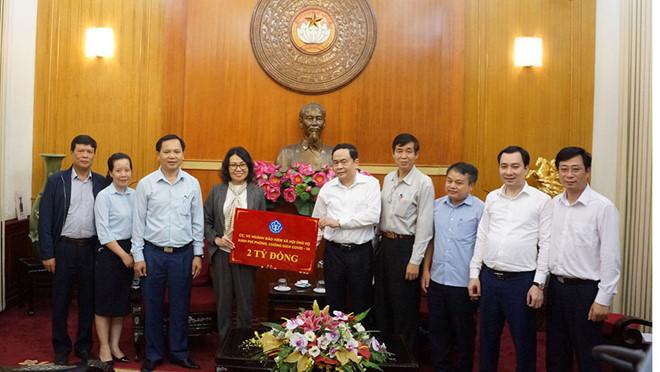 BHXH Việt Nam ủng hộ 2 tỉ vào Quỹ phòng, chống dịch Covid-19
