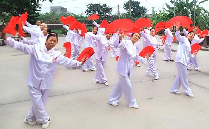 Lan tỏa phong trào thể dục dưỡng sinh ở Cẩm Điền