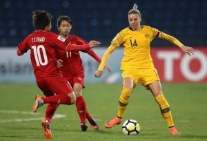 Tuyển nữ Việt Nam thua đậm Australia ở lượt đi vòng play-off Olympic