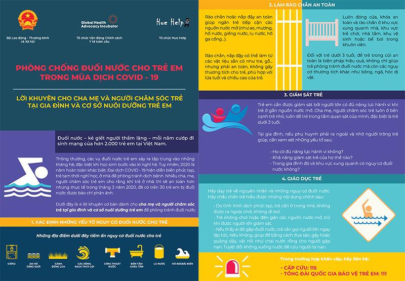 Tăng cường phòng chống đuối nước cho trẻ em trong mùa dịch COVID-19