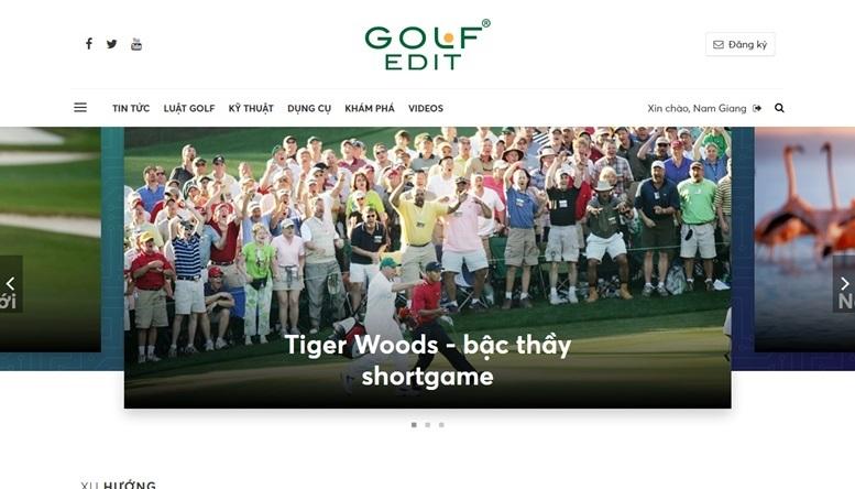 Golf Edit ra phiên bản Web mới sau 5 năm ra mắt