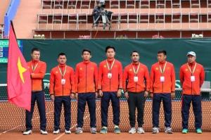 Ngày thi đấu đầu tiên vòng play-offs Davis Cup nhóm II Thế giới năm 2020