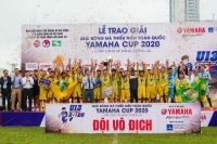 Chủ nhà Sông Lam Nghệ An vô địch Giải bóng đá Thiếu niên toàn quốc Yamaha Cup 2020