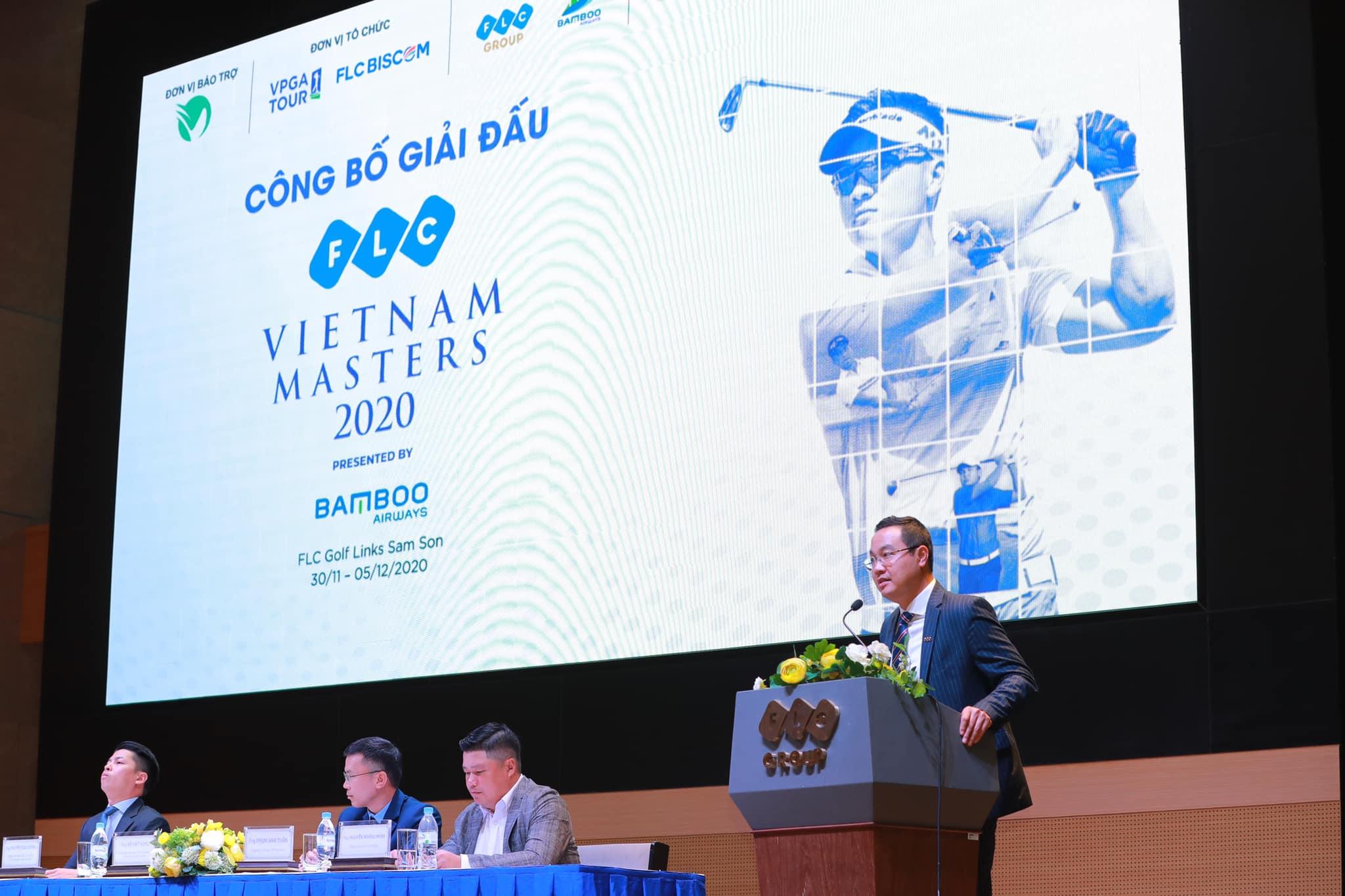 Giải golf FLC Viet Nam Masters presented by Bamboo Airways 2020 tiếp tục là sân chơi lớn nhất cho golfer chuyên nghiệp tại Việt Nam