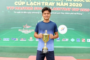 Trịnh Linh Giang đánh bại tay vợt số 1 Việt Nam Lý Hoàng Nam lên ngôi vô địch