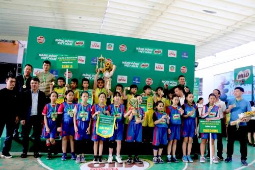 Kết thúc giải Bóng rổ Học sinh Tiểu học Hà Nội - Cúp Nestlé Milo 2020