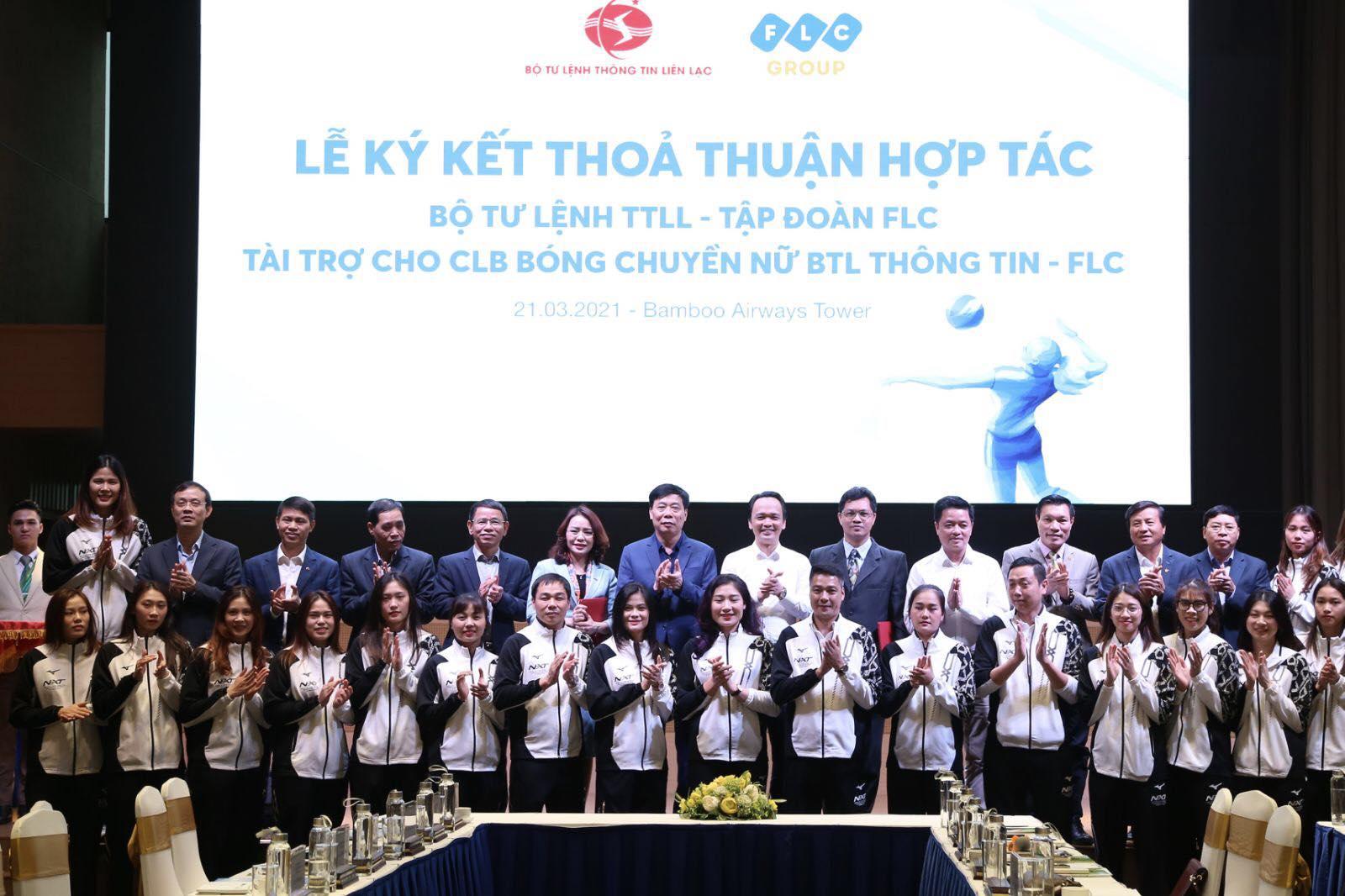 CLB bóng chuyền nữ Bộ Tư Lệnh Thông Tin nhận tài trợ khủng 20 tỉ đồng/năm từ tập đoàn FLC