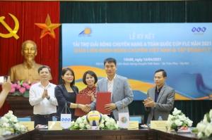 Tập đoàn FLC là nhà tài trợ Vàng giải Bóng chuyền Hạng A toàn quốc Cúp FLC năm 2021