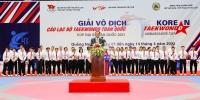 Khai mạc giải vô địch Taekwondo các CLB toàn quốc - Cup Đại sứ Hàn Quốc năm 2021