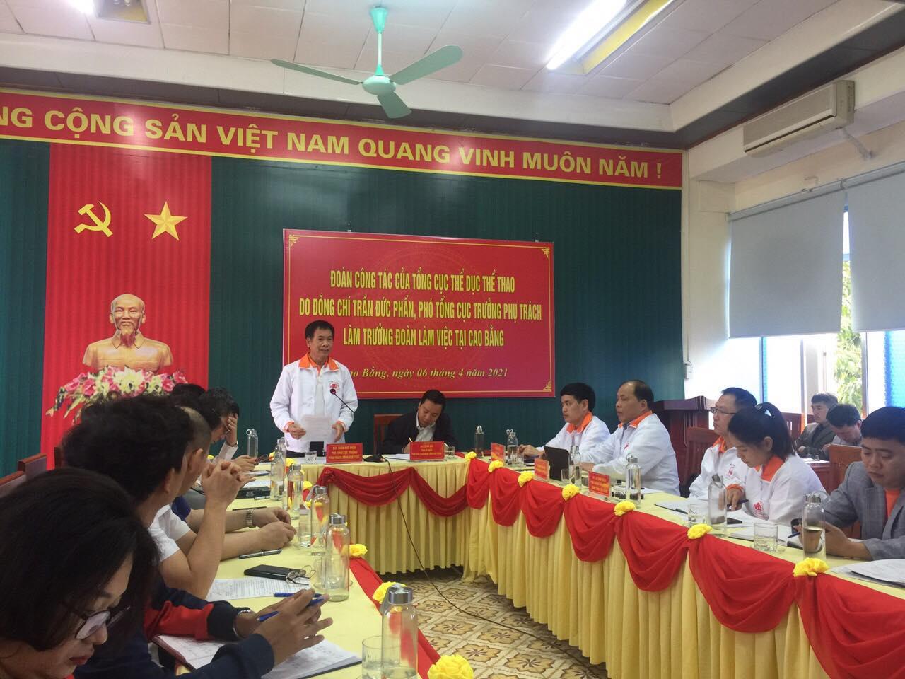 Phó Tổng cục trưởng phụ trách Trần Đức Phấn làm việc tại Cao Bằng