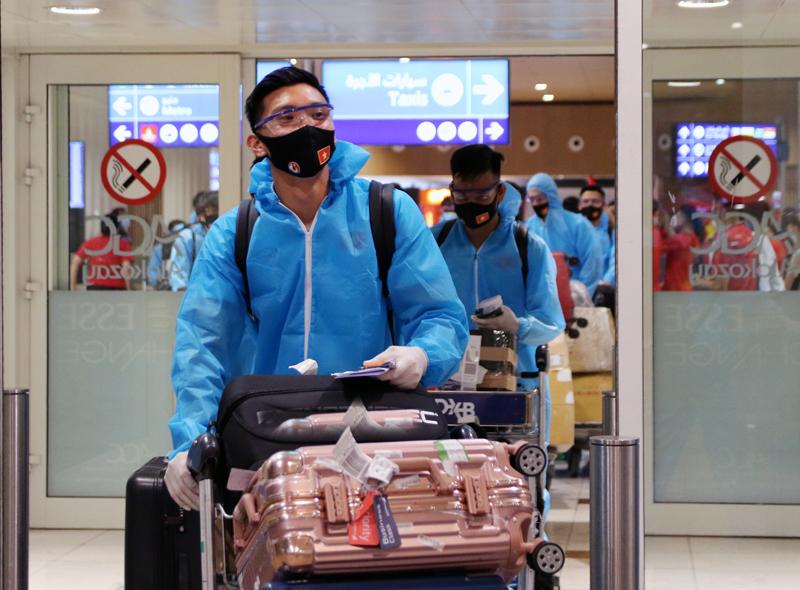 ĐT Việt Nam đã có mặt tại UAE, sẵn sàng bắt nhịp với guồng quay mới