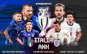 Giải VĐ bóng đá châu Âu – EURO 2020: Nhận định trận đấu Anh vs Italia